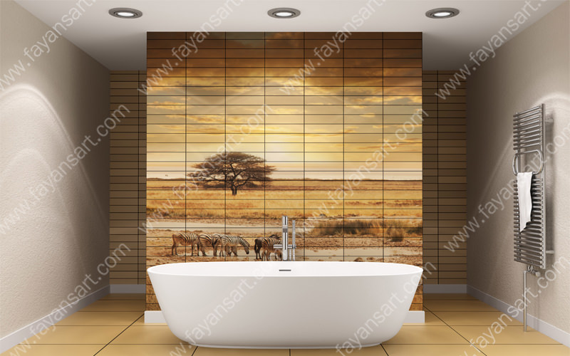 View Larger Image Safari Bathroom tile